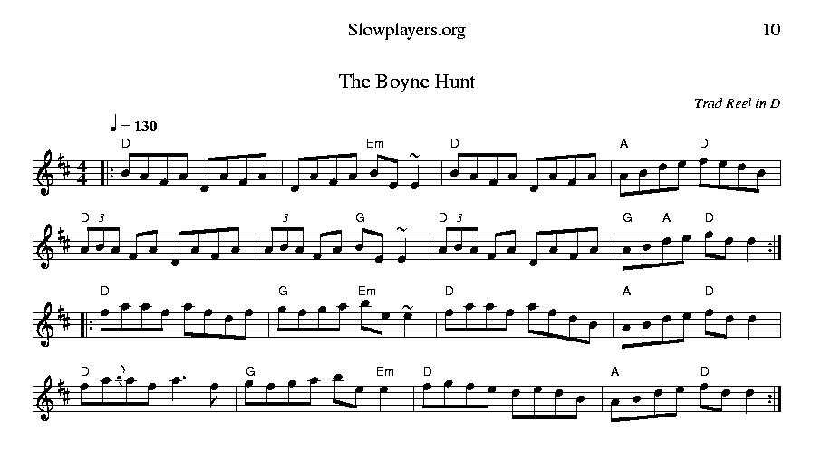 The Boyne Hunt D Slowplayers