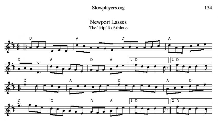 Newport Lass, Jig in D