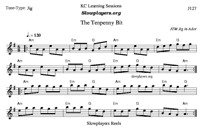 Tenpenny Bit,, Jig in Ador