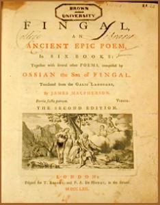 Fingal, Ossian